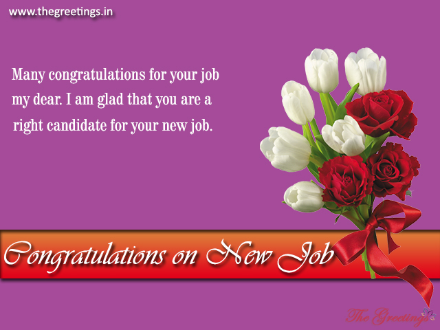 Congratulation Messages for New Job, Wishes - The Greetings